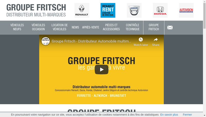 Capture d'écran du site de Garage Yvan Fritsch