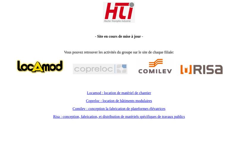 Capture d'écran du site de Groupe HTI