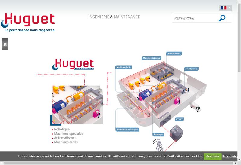 Capture d'écran du site de Huguet Ingenierie - Huguet Energies