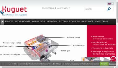 Site internet de Huguet Ingenierie - Huguet Energies