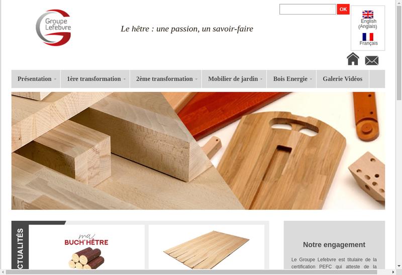 Capture d'écran du site de Manubois