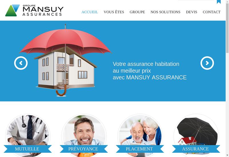 Capture d'écran du site de Groupe Mansuy