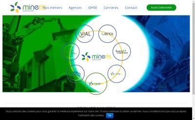 Site internet de Groupe Mineris