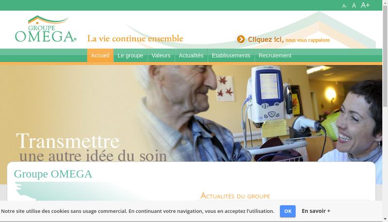 Capture d'écran du site de La Roseraie