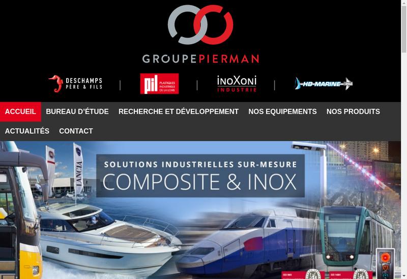 Capture d'écran du site de Deschamps Pere et Fils