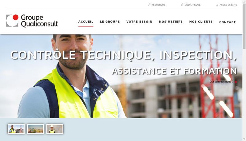 Capture d'écran du site de Groupe Qualiconsult