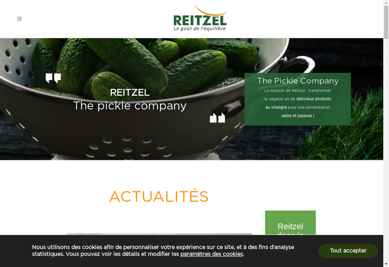 Capture d'écran du site de Jardin d'Orante