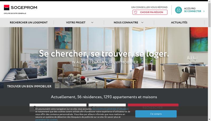 Capture d'écran du site de Sogeprom Alpes