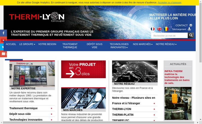 Capture d'écran du site de TLD