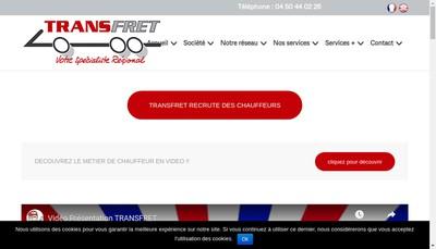 Site internet de Trans-Fret
