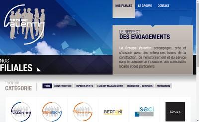 Site internet de Groupe Valentin