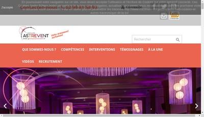 Site internet de Naos Location - Atria Creation Astrevent - Groupe Astrevent