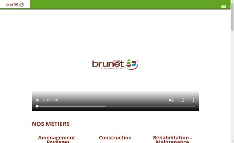 Capture d'écran du site de Groupe Brunet