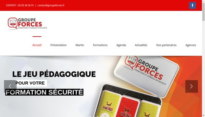 Site internet de Groupe Forces
