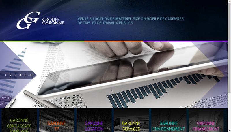 Capture d'écran du site de Garonne Concassage Criblage