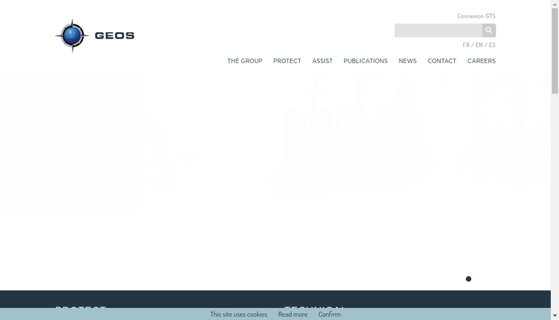 Capture d'écran du site de GEOS