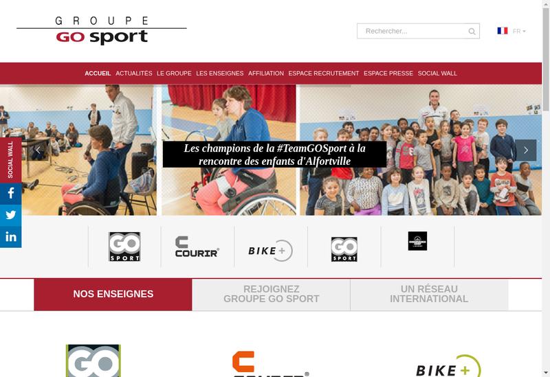 Capture d'écran du site de Go Sport
