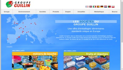 Site internet de Guillin Emballages