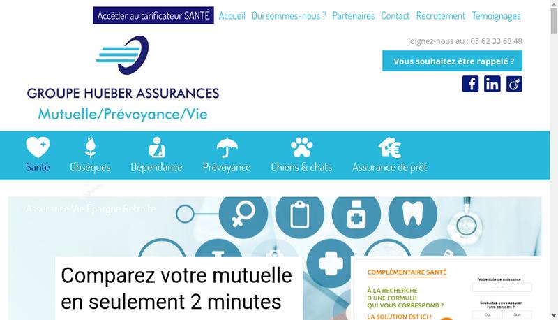 Capture d'écran du site de Groupe Hueber Assurances