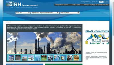 Capture d'écran du site de Irh Ingenieur Conseil