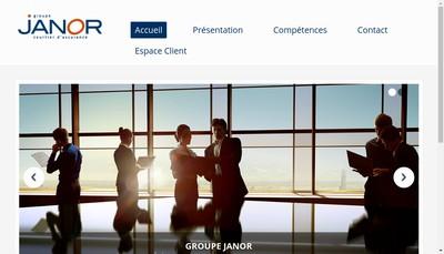 Site internet de Groupe Janor