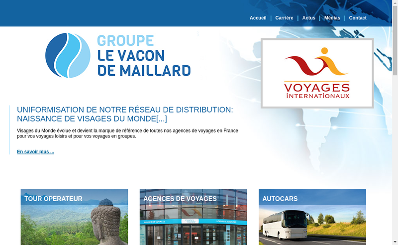 Capture d'écran du site de Coach And Travel Investment