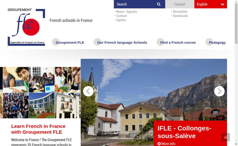 Capture d'écran du site de Groupement Fle