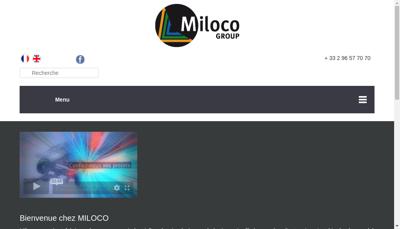 Capture d'écran du site de Miloco Production
