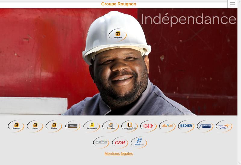 Capture d'écran du site de Entreprise Bedier