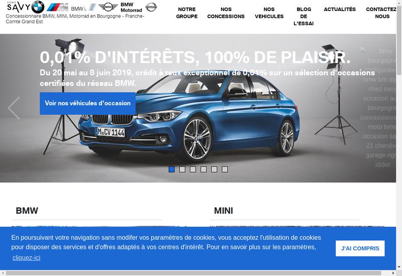 Capture d'écran du site de Savy