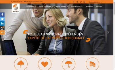 Site internet de Sofraco Bordeaux