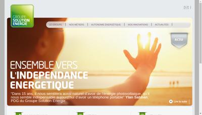 Capture d'écran du site de Avenir Solution Energie