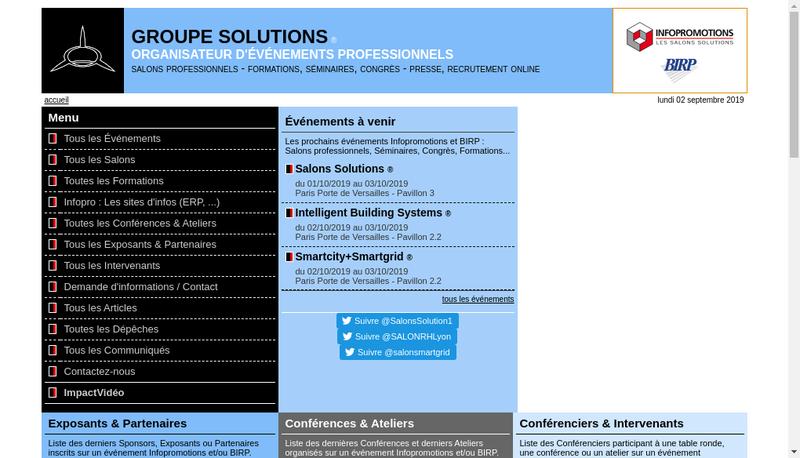 Capture d'écran du site de Bureau Internat Relat Publique
