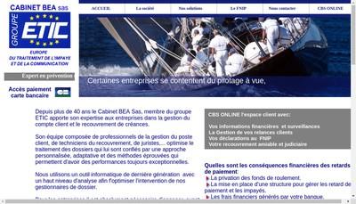 Site internet de Cb Recouvrement