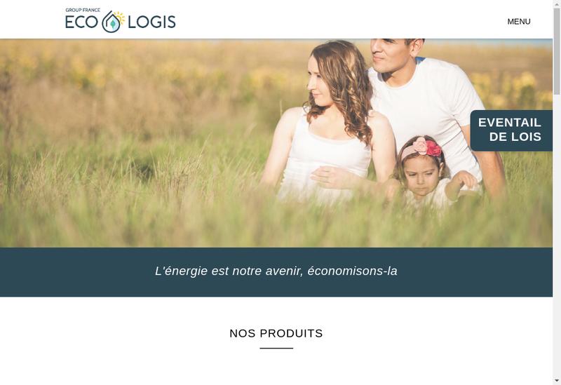 Capture d'écran du site de Group France Eco-Logis