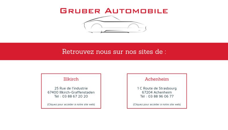 Capture d'écran du site de Gruber Automobile