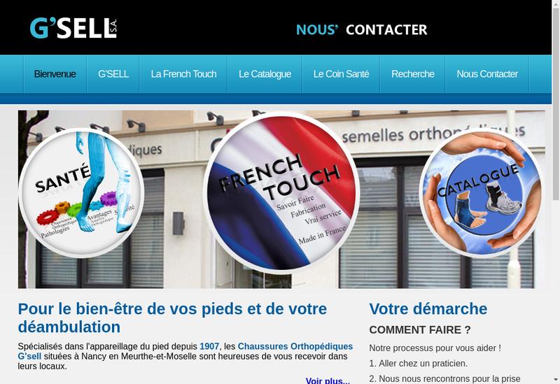 Capture d'écran du site de Chaussures Orthopediques G Sell