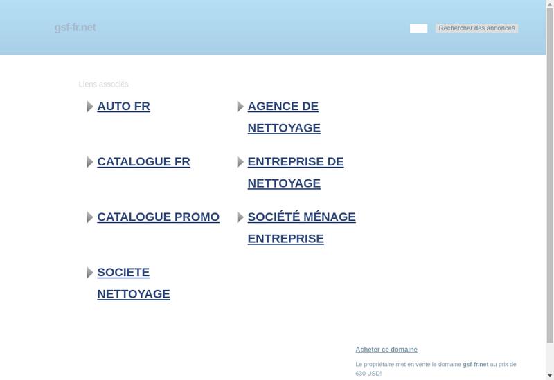 Capture d'écran du site de Gsf Phebus