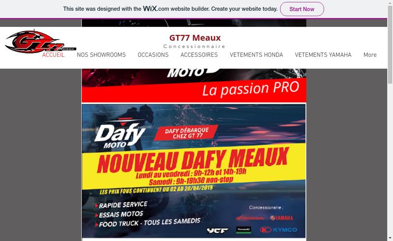 Capture d'écran du site de Gt Meaux 77