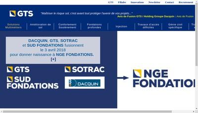 Site internet de Nge Fondations