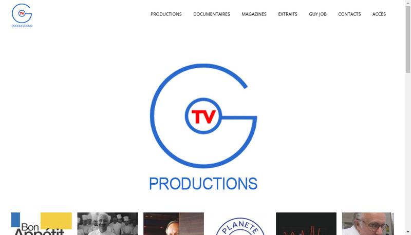 Capture d'écran du site de Gourmet Tv Productions