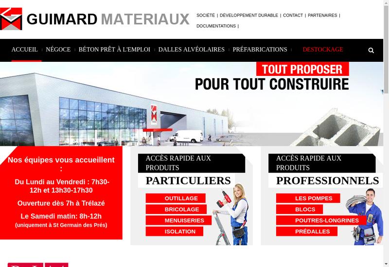 Capture d'écran du site de Beton Manufacture Ingrandais