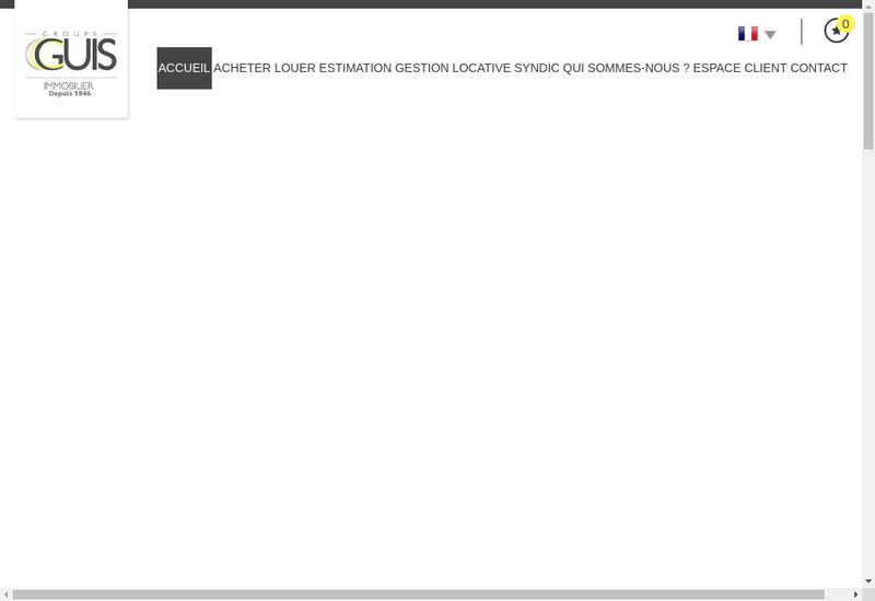 Capture d'écran du site de Agence Guis SA