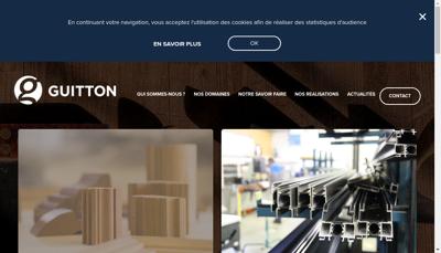 Capture d'écran du site de Guitton Menuiserie SA