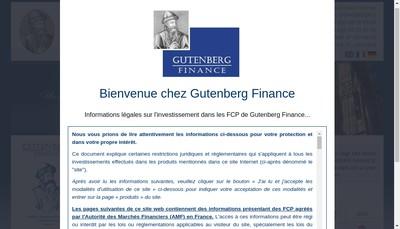 Site internet de Gutenberg Finance