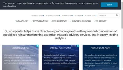Site internet de Guy Carpenter et Company SAS