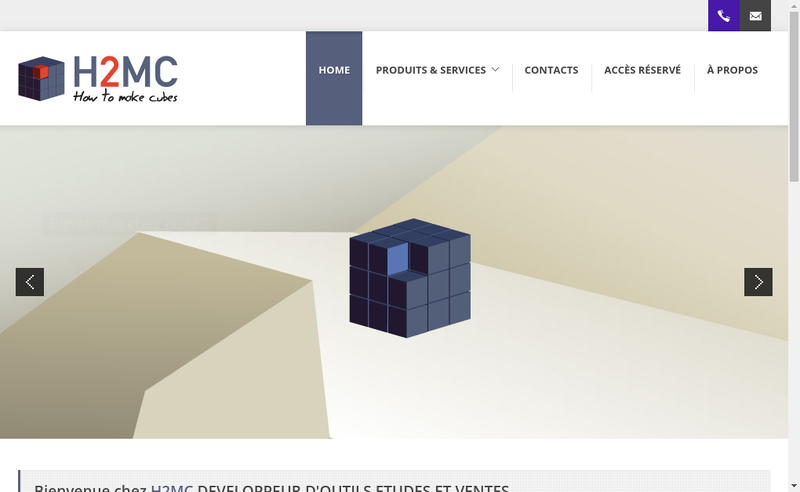 Capture d'écran du site de H2Mc Consulting And Software