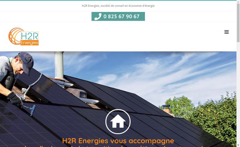 Capture d'écran du site de H2R Energies