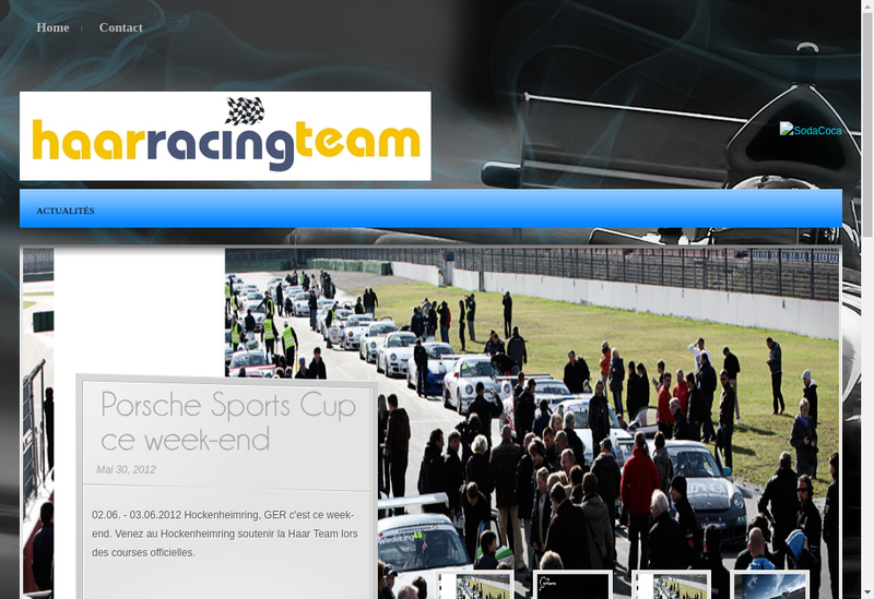 Capture d'écran du site de Haar Racing Team