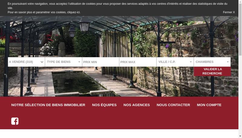 Capture d'écran du site de Habasque Immobilier